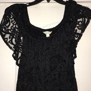 A black dress with a print